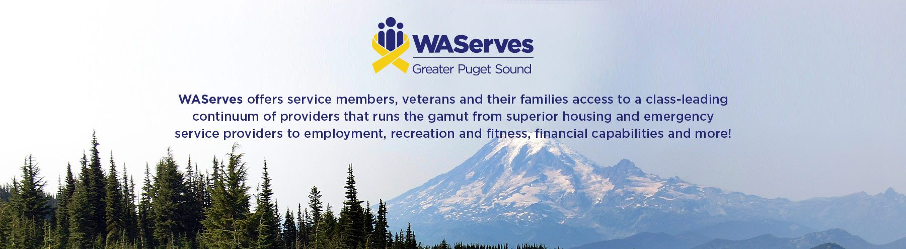 WAServes offers service members, veterans, and their families access to a continuum of providers